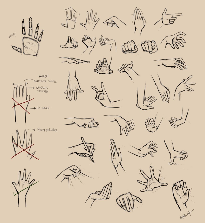 Аниме смотрит на свои руки